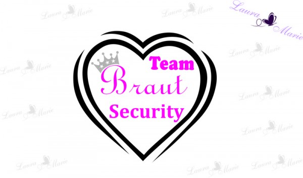 Bügelbild Team Braut Security